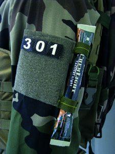 patchs réfélchissants et photoluminescents pour identification des troupes