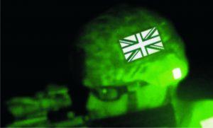 identification drapeau britannique IR avec JVN