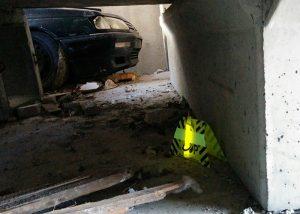 Balisage de zone dangeureuse avec snaplight jaune sur support Flash-Up