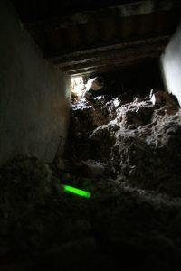 Marquage de sous-terrain avec code couleur vert