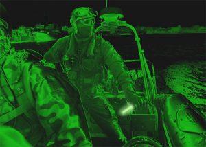 baton infrarouge accostage de nuit