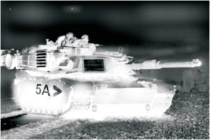 Marquage char blindé avec bande IR