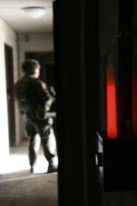 Marquage avec baton 15cm rouge pour inspection bâtimentaire