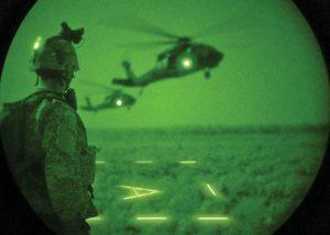 Aire de poser ou zone de largage d'hélicoptère