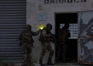 Marquage entrée de bâtiment en opération de combat