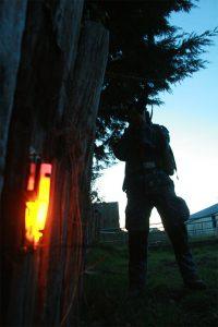 Fil piège pour protection périmètre lors d'exercices de tirs