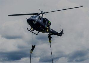 identification des soldats lors de descente en rappel d'helicoptere