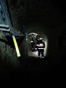 Balisage lumineux de cheminements par pompiers en SD