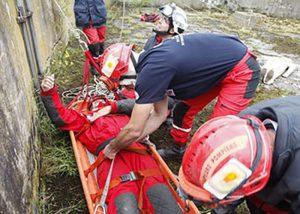 Marqueur Visipad sur casque pour sauvetage lors de catastrophes naturelles