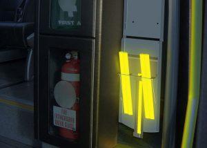 Éclairages d'urgence et de secours en cas d'évacuation de rames de trains