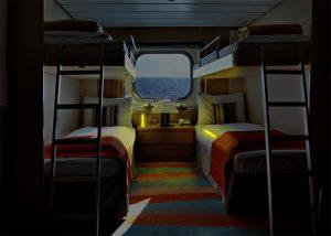 Lumière d'appoint dans cabine de navire de croisière
