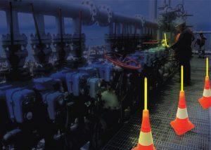 Lumière de secours pour industrie pétrole et gaz