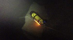 Marquage de bouteille de plongée par équipes SDIS en milieu hyperbare
