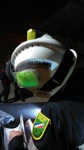 Marqueur lumineux pour identification sur casque de pompier