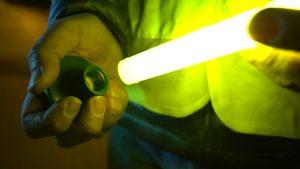 Baton lumineux avec base magnétique