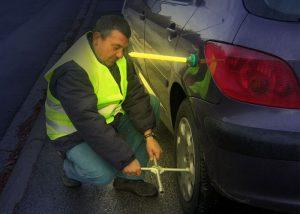Éclairage de secours lors de panne ou accident de la route