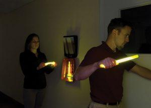 Éclairage pour évacuation de clients d'hôtel