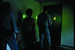 Évacuation de personnes avec éclairages individuels