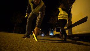 Marquage lumineux au sol en sécurité routière