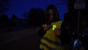 Patch lumineux Visipad pour marquage de personne en complément du gilet jaune