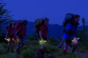 baton lumineux randonnée de nuit