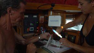 Éclairage d'appoint à bord d'un bateau