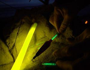 Flotteur de pêche de nuit avec bâton lumineux