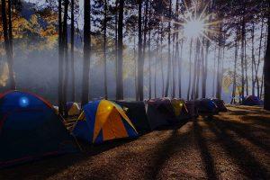 Identification de tentes de camping