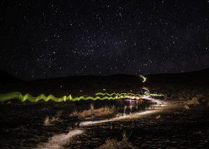 Lumière de secours ds coureurs sur marathon des sables