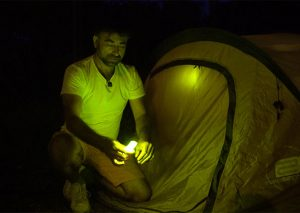 Marquage de nuit de tente