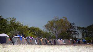Marquage des tentes pour localisation de nuit