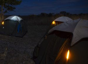 Marquage de tente de camping avec éclairage d'appoint
