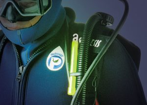 Plongeur avec lumière d'appoint cyalume