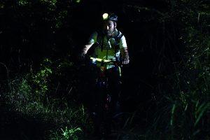 balade VTT de nuit marquage lumineux