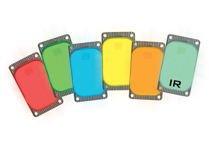 Rectangular adhesive lighting marker VisiPad