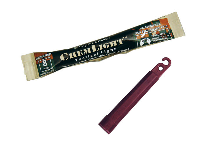 baton lumineux infrarouge cyalume 10cm 4inch