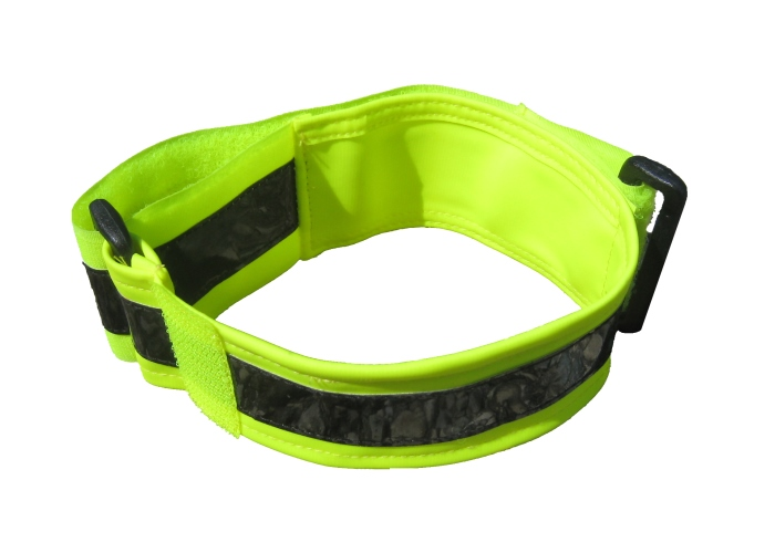 fluorescent yellow armband with Infrared band