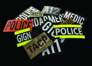 indicatifs appel patchs IR infrarouges reversibles
