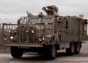 marquage itinéraires véhicule blindé pour convois