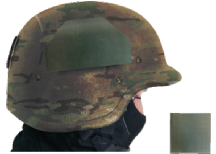 thermal patch on helmet