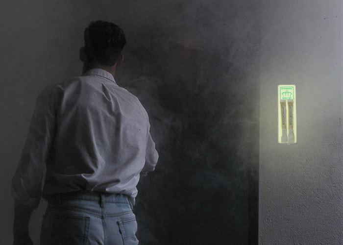 Photolum plaque luminescente support pour batons lumineux en cas de coupure de courant
