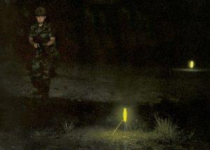 balisage de zones avec baton lumineux chemlight 25cm
