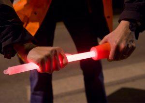baton lumineux long utilise avec cone de chantier