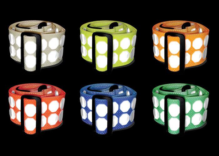ceinture rétro-réflective ajustable 6 couleurs visibilité et identification de personnes