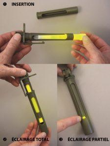 contrôle de la fenêtre rotative de l'écran kaki directionnel pour bâton lumineux