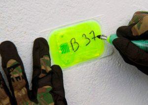 Écriture message sur patch lumineux Visipad