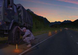 marquage de routes avec batons lumineux 25cm chemlight orange