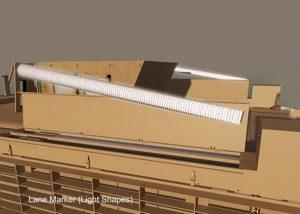 Magasins de stockage de marqueurs lumineux et système d'activation