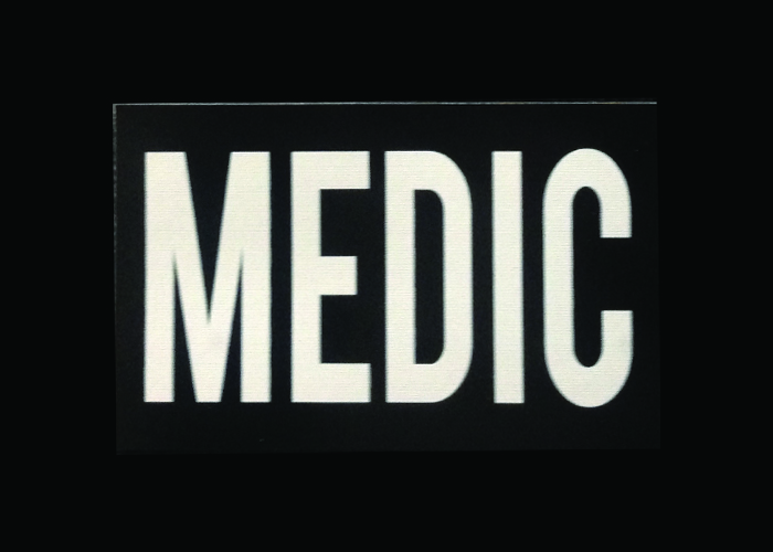 Patch IR Medic réversible noir