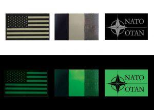 insignes drapeaux à fixer sur épaules